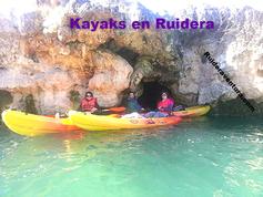 Alquiler y travesias con kayak o piragua en las lagunas de ruidera