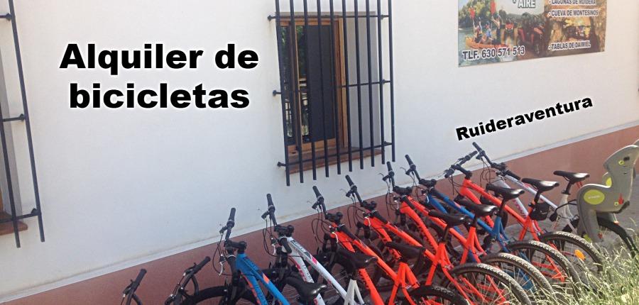 Alquiler de bicicletas Ruideraventura